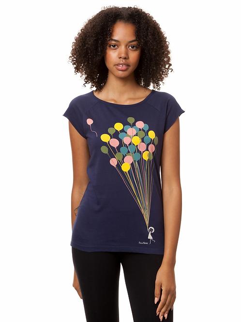 T-Shirt Balloons Girl midnight