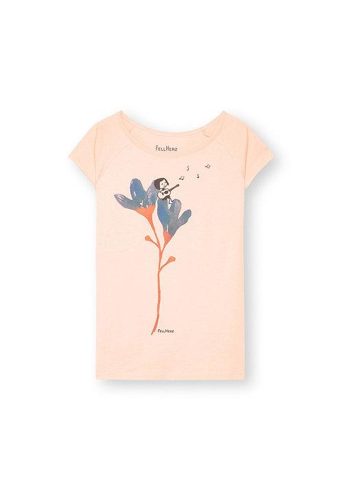 T-Shirt Gitarrenmädchen apricot