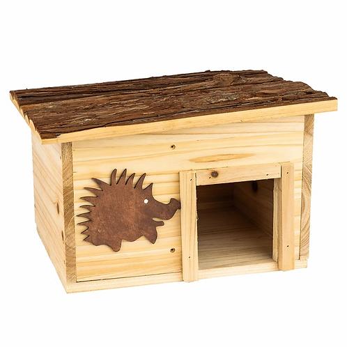 Winterfestes Igelhaus aus Holz ideal als Winterquartier