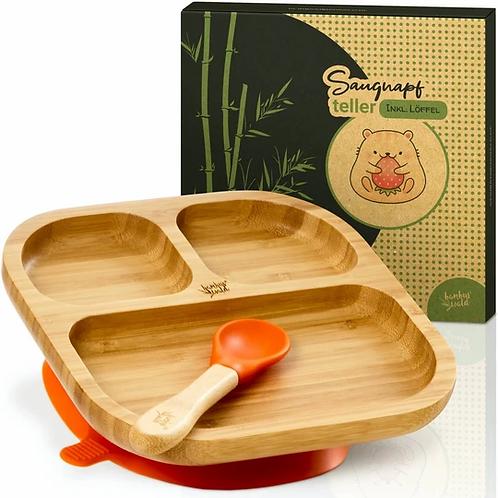 Premium Bambus Teller inkl. Löffel