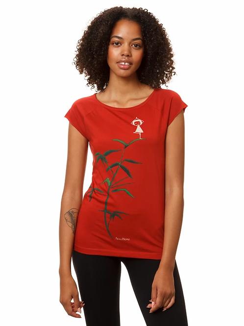 T-Shirt Yogamädchen red
