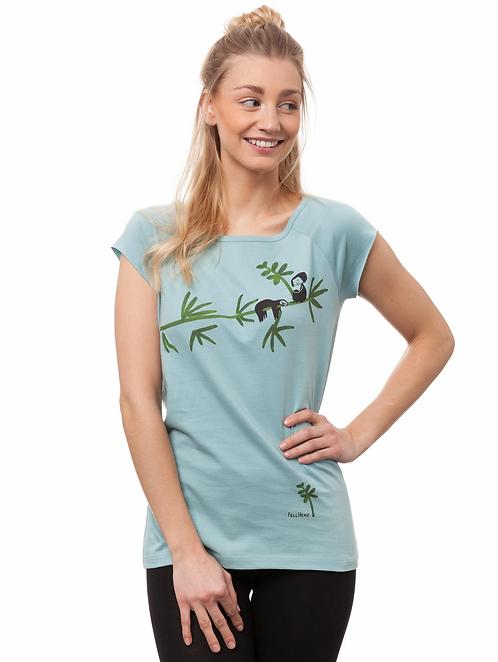 T-Shirt Faultier light aqua