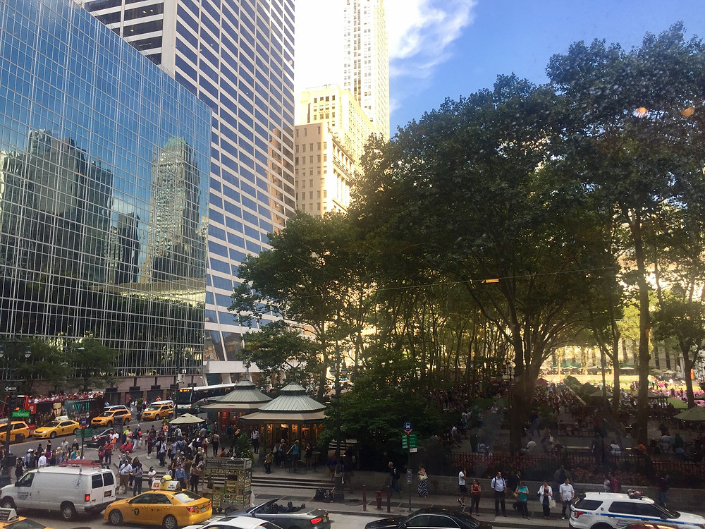 View of Bryant Park from Whole Foods Bryant Park NYC