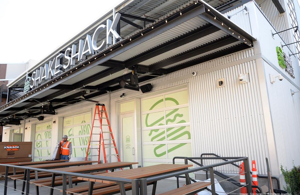 Shake Shack Midtown Sacramento during construction