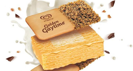Golden Gaytime by Streets in Australia