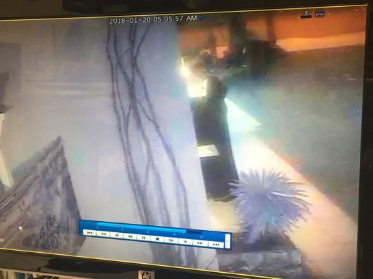 Security Camera Footage of Person in Robe - Photo: Barrett Newkirk/The Desert Sun