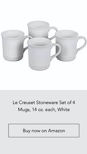 Le Creuset Stoneware Set of 4 Mugs