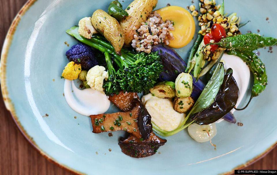 The Vegetable Plate at 3030 Ocean restaurant in Fort Lauderdale