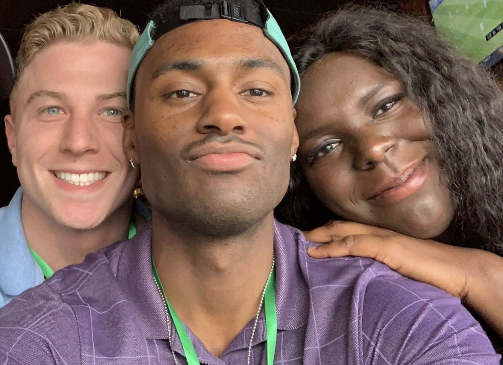 Boyfriends Brad Neumann and Justin Rabon helping protestors in Minneapolis