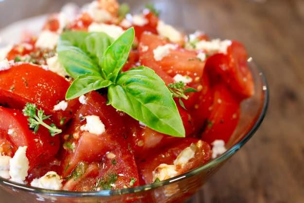 Fresh herbed tomato salad