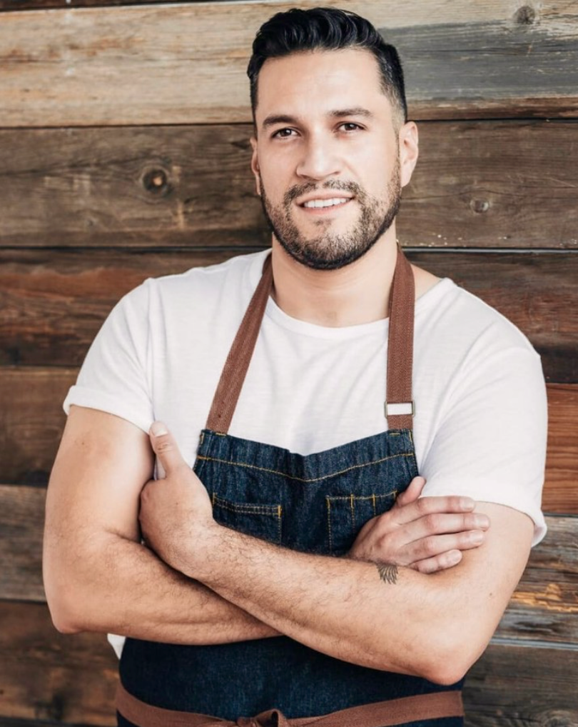 Portrait of Gay Chef Ivan Castro from restaurant La Bartola