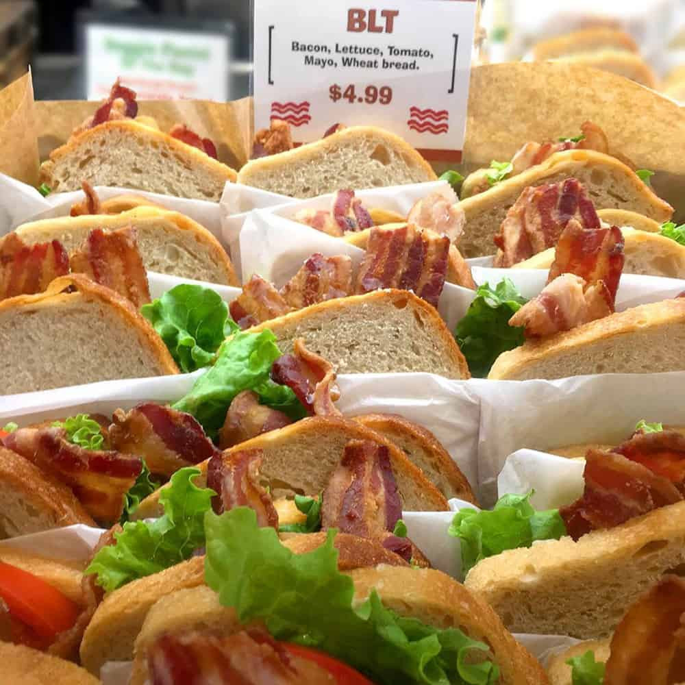 BLT sandwich at Turnip Truck grocery store