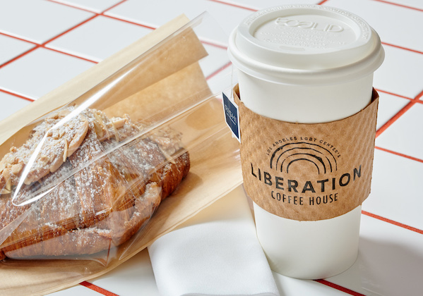 Liberation Coffee House coffee and pastry