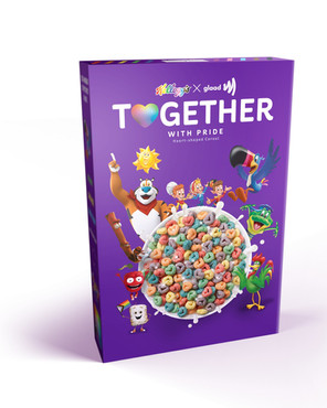 Kellogg's Partners with GLAAD on 'Together With Pride' Cereal