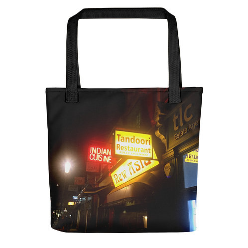 Tandoori Tote Bag black handle