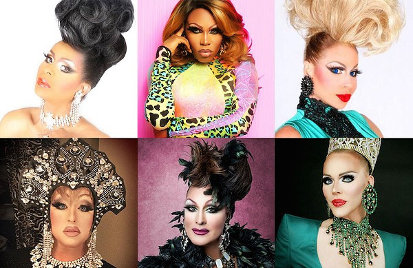 Hamburger Mary's performers Alexis Principle, Asia T. O'Hara, Krista Versace, Nina DiAngelo, Sabrina White, Tiffany T. Hunter pictured