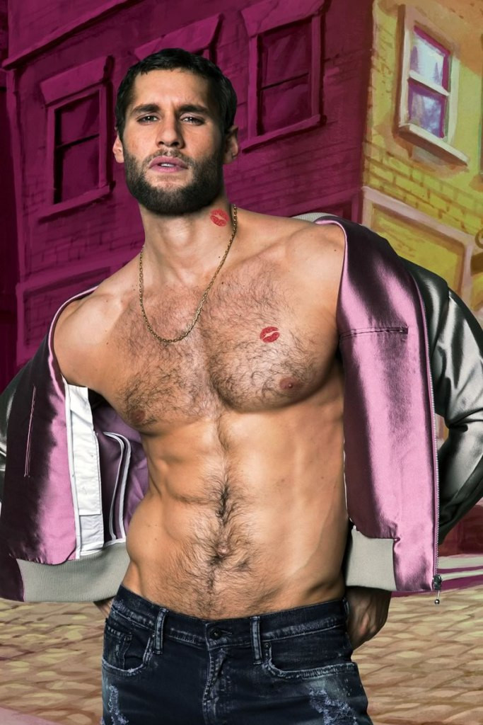 Franco Noriega shirtless gay chef