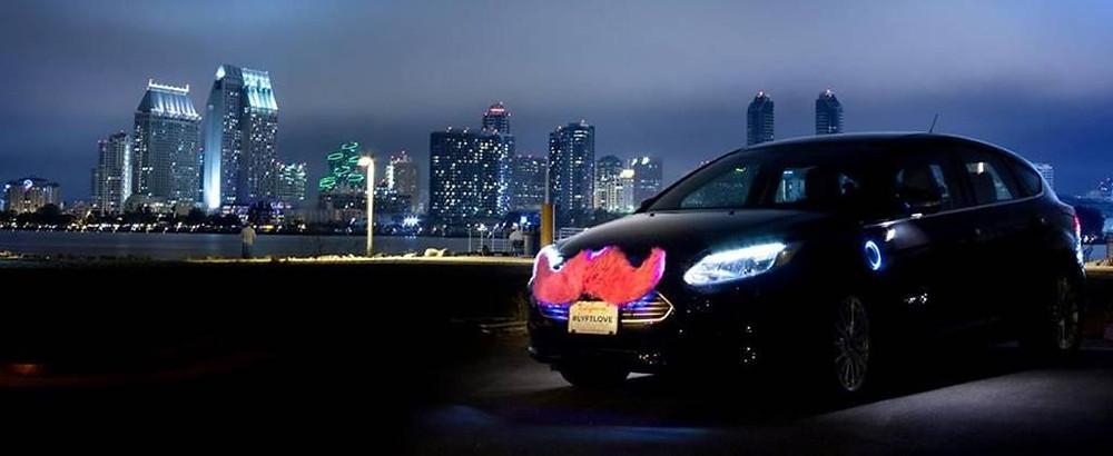 Gay Lyft car in San Diego