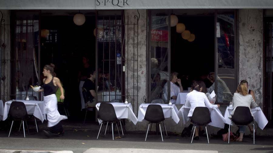 SPQR Restaurant outdoor seating in New Zealand