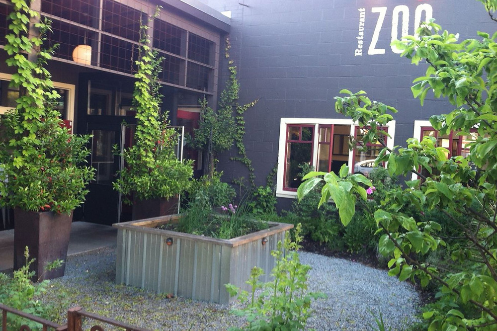 Outdoor patio at Union bar in Seattle