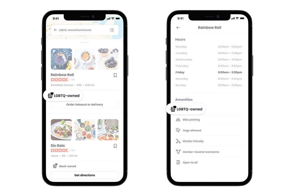 Yelp LGBTQ-owned search filter