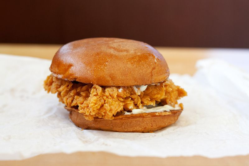 Fried Chicken Sandwich at Popeyes