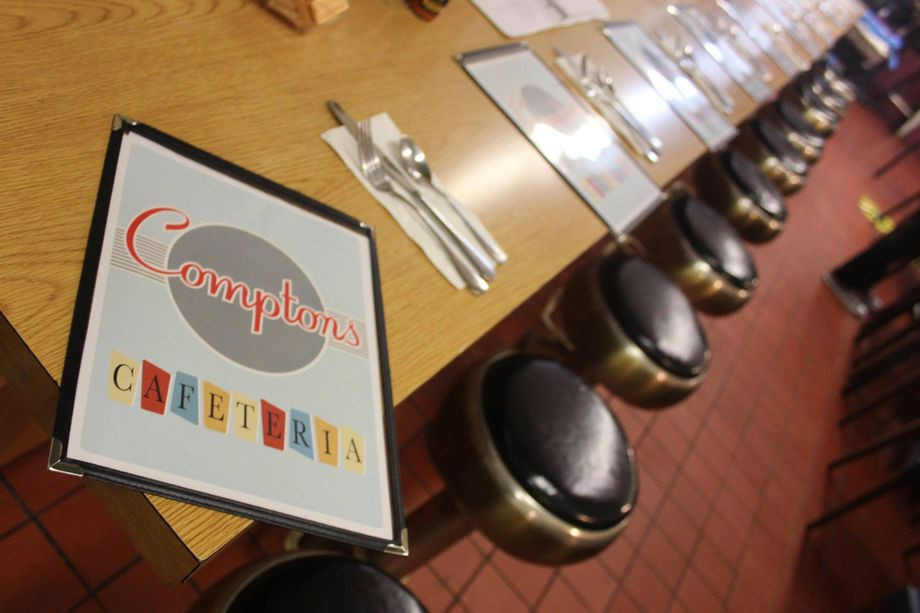 The menu at Compton's Cafeteria in San Francisco