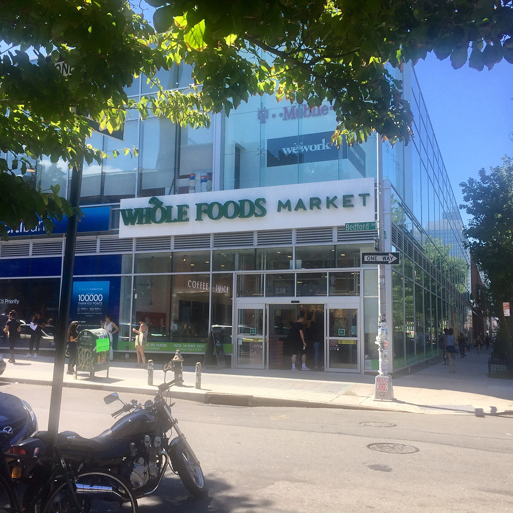 Whole Foods Market exterior in Williamsburg, Brooklyn