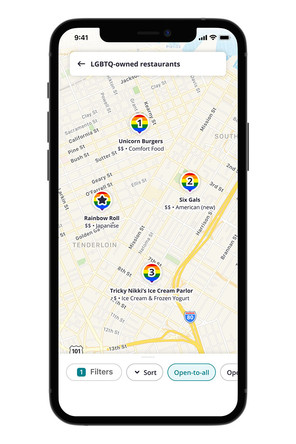 Yelp Now Includes 'LGBTQ-Owned' Business Search & Rainbow Pride Map Pins