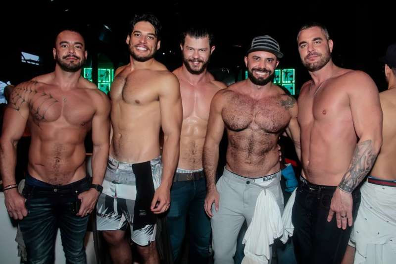 Patrons at The Week gay nightclub in Brazil