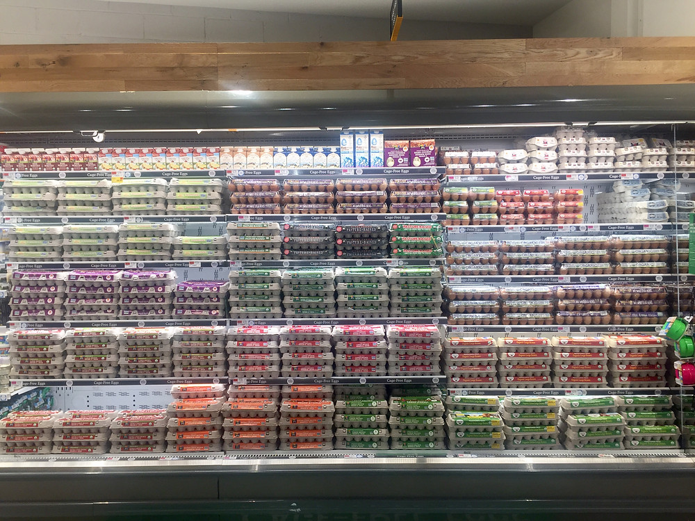 Dairy and egg section at Whole Foods Harlem