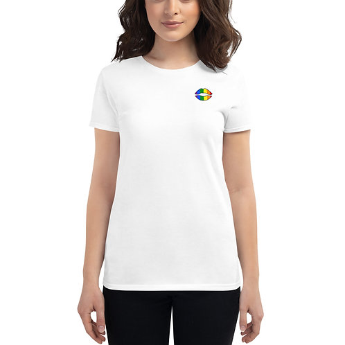 Gay Pride t shirt in white for women