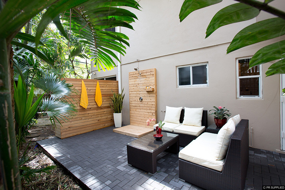 Outdoor patio at The Grand Resort and Spa in Fort Lauderdale