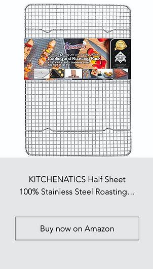 KITCHENATICS Half Sheet 100% Stainless S