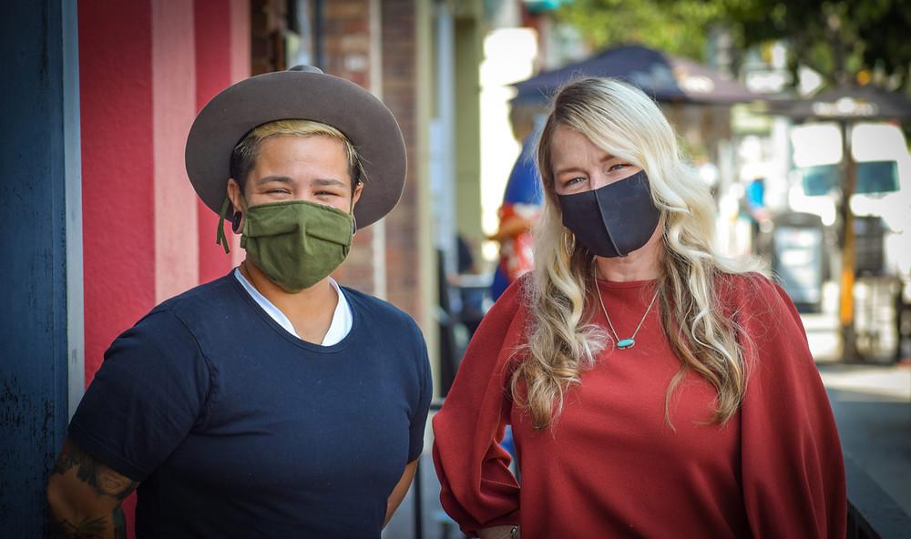 Rebecca Hinderer & Melissa Almeraz at What's Crackin