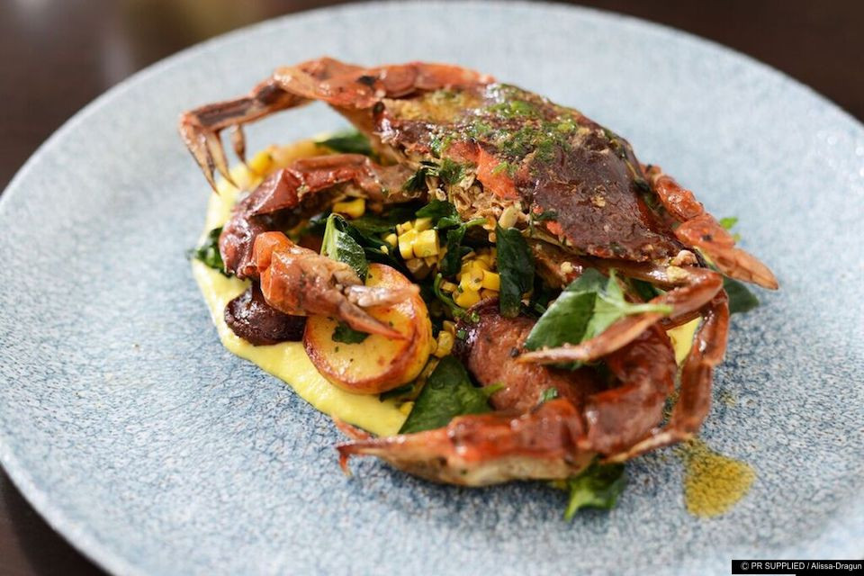 Sauteed Softshell Crab at 3030 Ocean in Fort Lauderdale