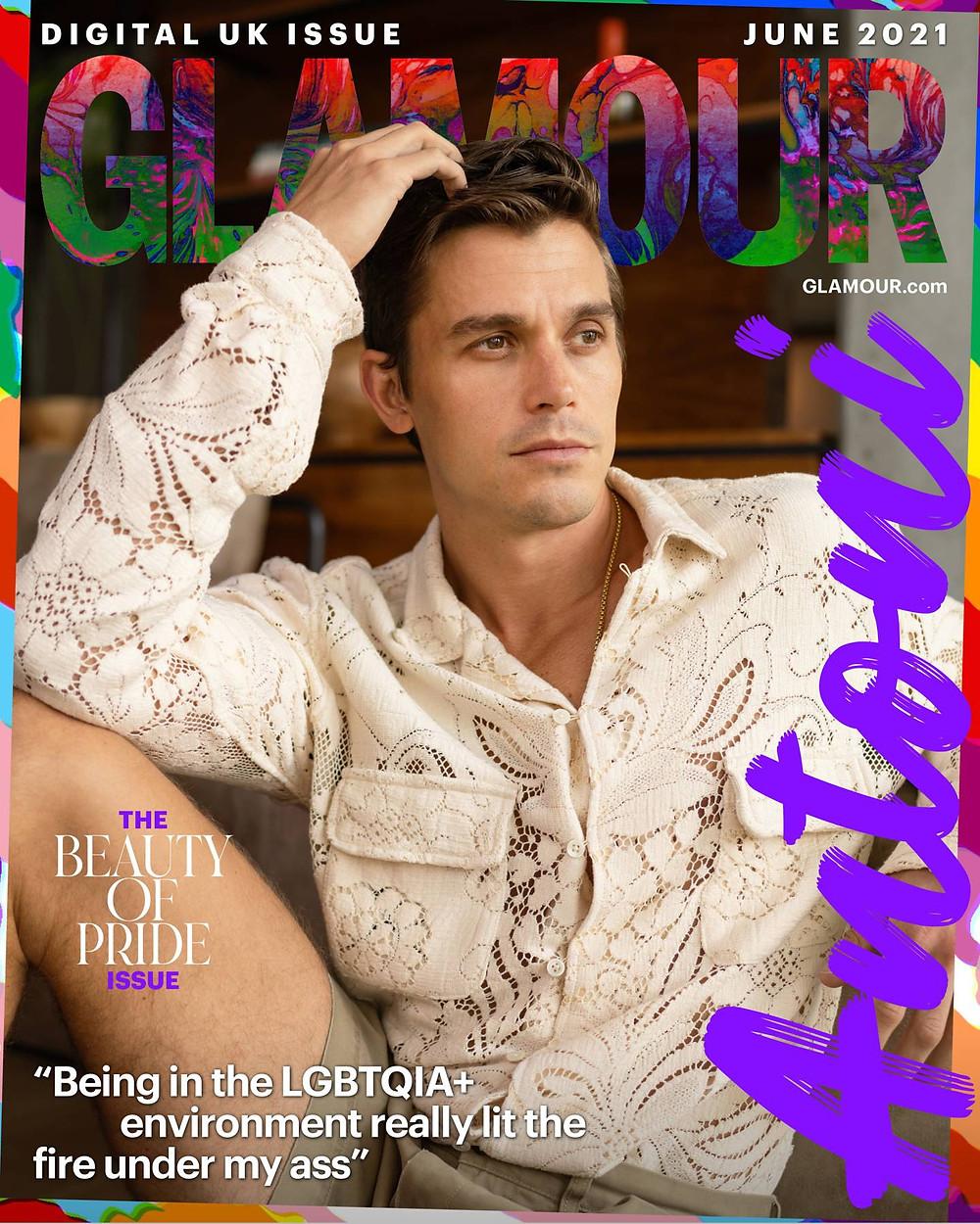 Glamour June 2021 Gay Pride cover Antoni Porowski