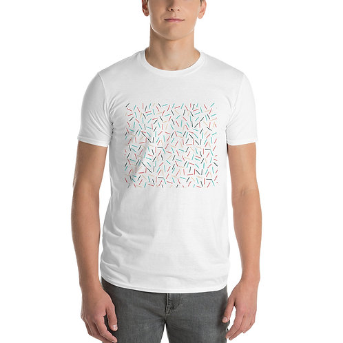Hamburger t shirt in white front view
