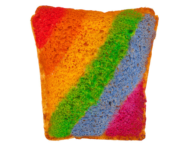 LGBT rainbow gay pride sandwiches
