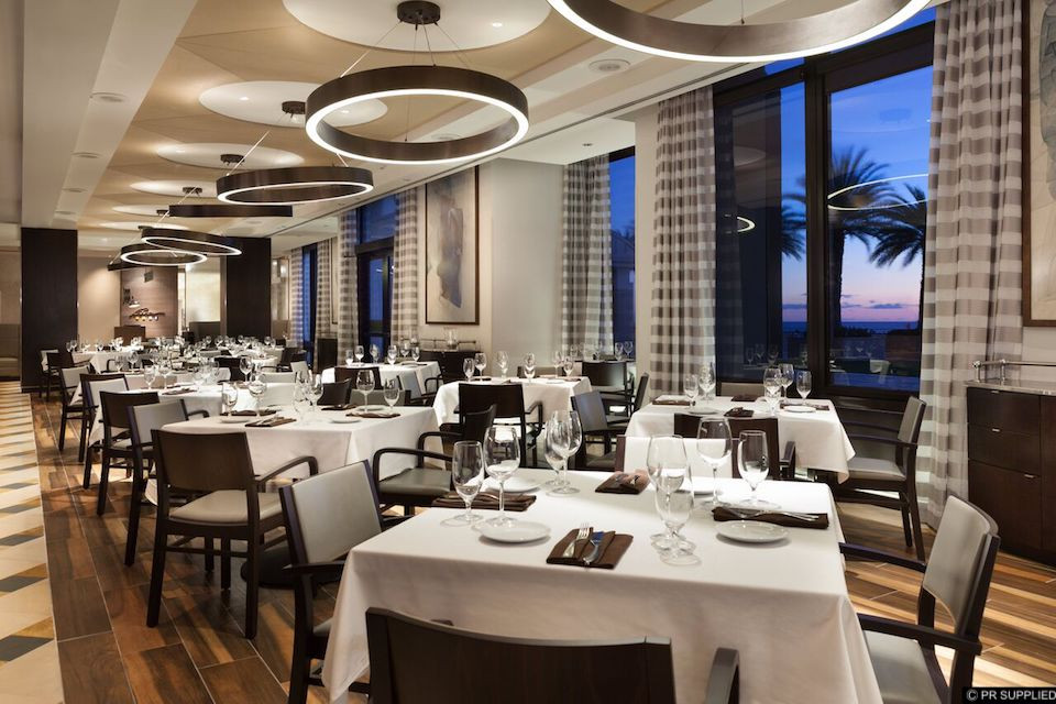 The dining room at 3030 Ocean in Fort Lauderdale