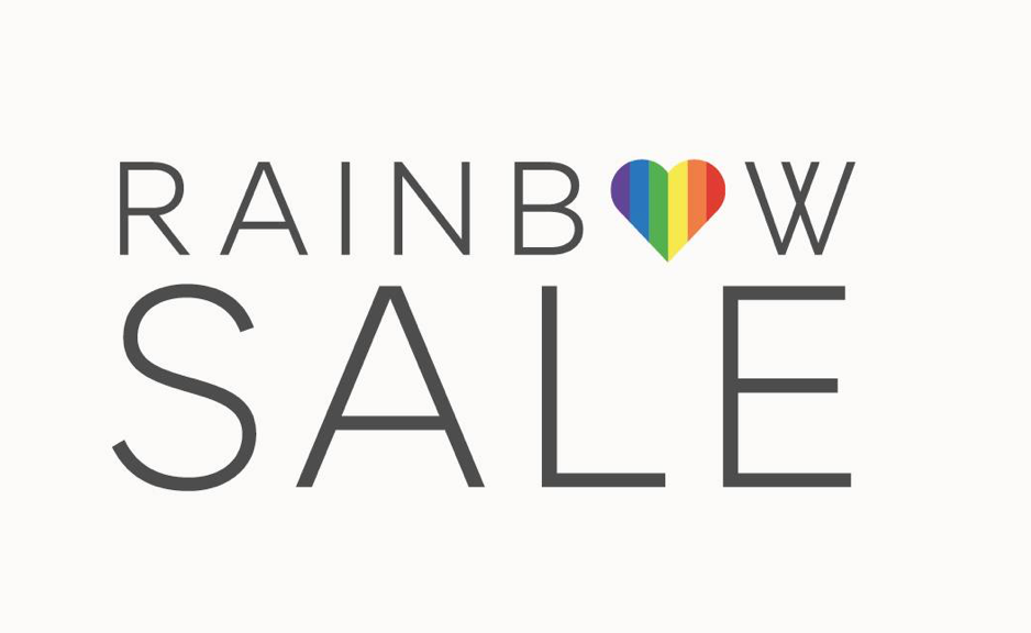 Marks & Spencer Gay Pride Rainbow Sale sign