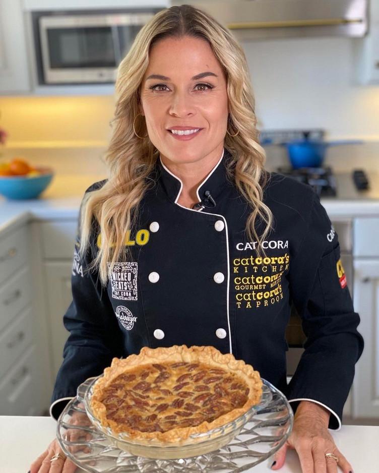 Gay Lesbian Chef Cat Cora at home