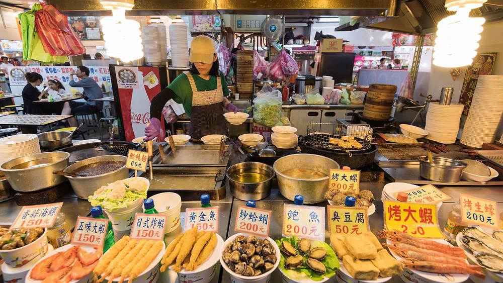 Fresh Food Market in Taipei, Taiwan