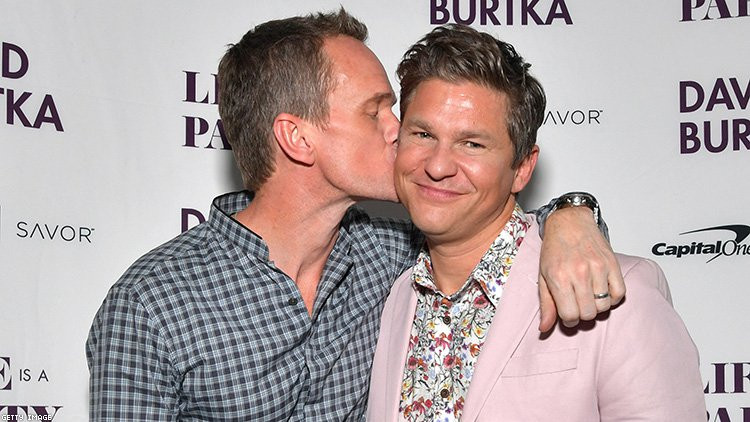Neil Patrick Harris husband David Burtka kissing