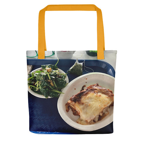 Lunch Tote bag yellow handle