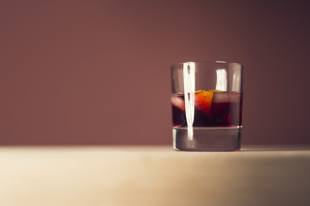 Old-fashioned glass gay cocktail