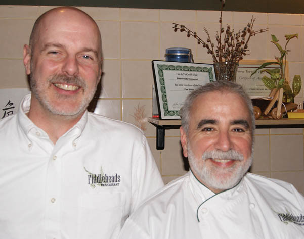 Brian Blatz and Dan Davis of Fiddleheads Restaurant in Jamesburg