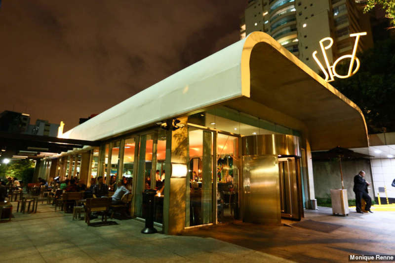 Exterior of The Spot restaurant in Sao Paulo