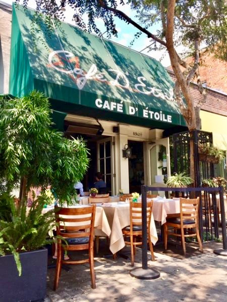 Cafe D' Etoile Restaurant exterior in Los Angeles