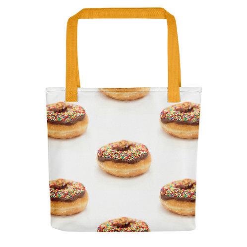 Doughnut Tote bag yellow handle